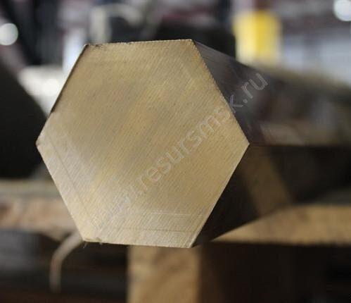 Латунный шестигранник ЛС59-1