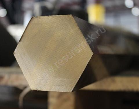 Пруток бронзовый шестигранного сечения