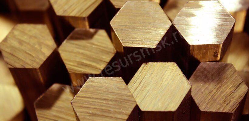 шестигранник из бронзы