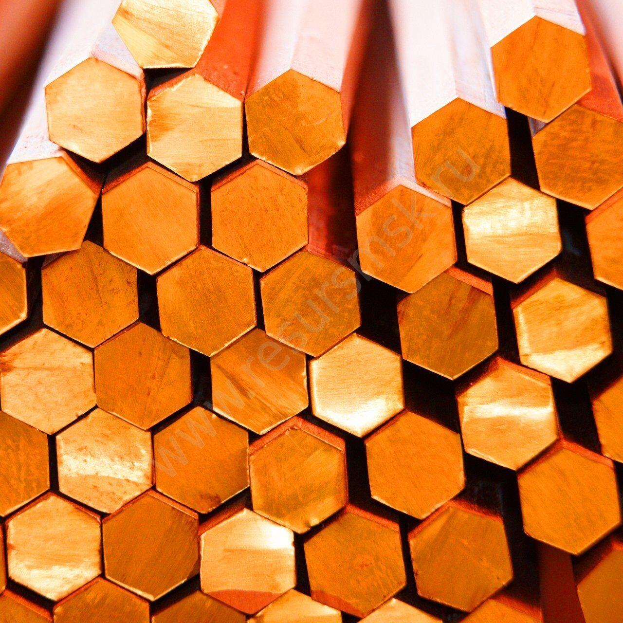 шестигранники бронзовые
