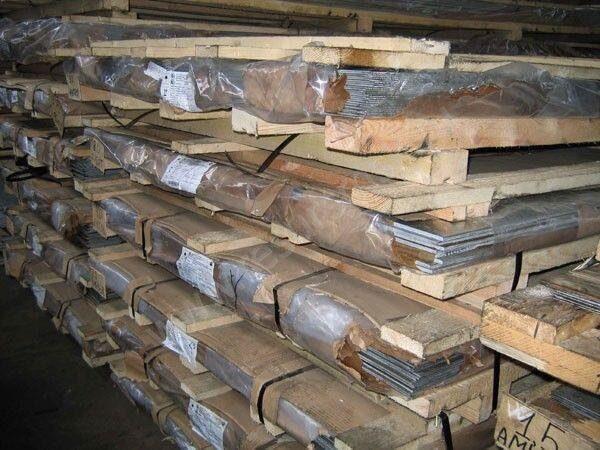 склад алюминиевых плит