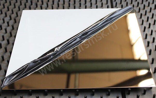 лист 08Х18Н10 с зеркальной поверхностью