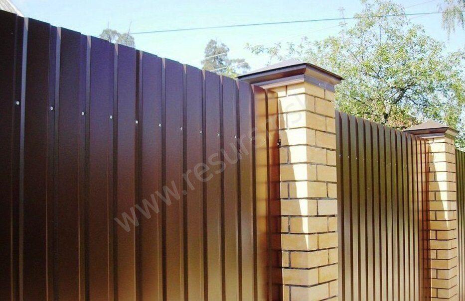 забор из пронастила с13
